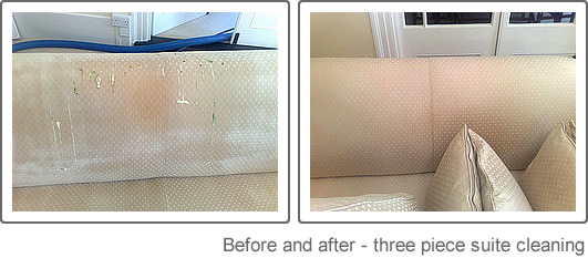 Suite cleaning before and after
